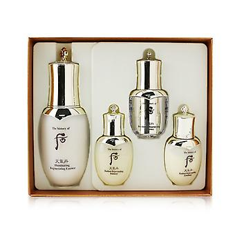 Whoo (The History Of Whoo) Cheongidan Iilluminating Regenerating Essence Special Set: Essence 50ml +  Balancer 25ml + Emulsion 25ml + Eye Serum 8ml 4pcs