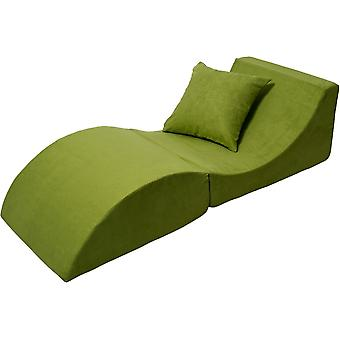 Relax sofa foldable green