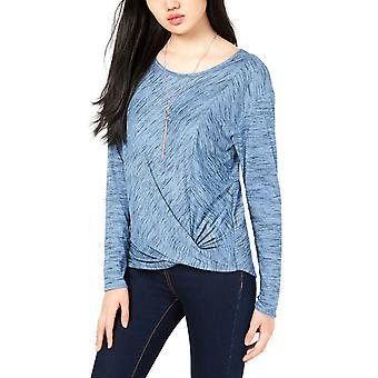 BCX | Twist-Front Rib-Knit Top with Necklace