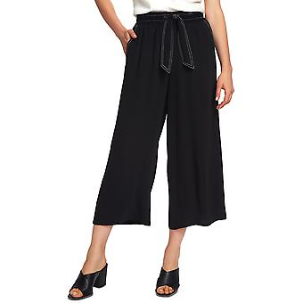 1.State | Contrast Stitch Wide Leg Crop Pants