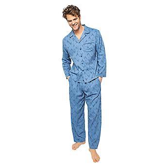 Cyberjammies Arthur 6527 Männer's blau Mix Hirsch Druck Pyjama Top