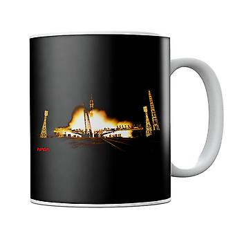 NASA Soyuz Rocket Launch Shot Mug