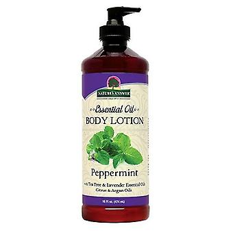 Nature's Answer Essential Oil Body Lotion, Pepermunt 16 Oz