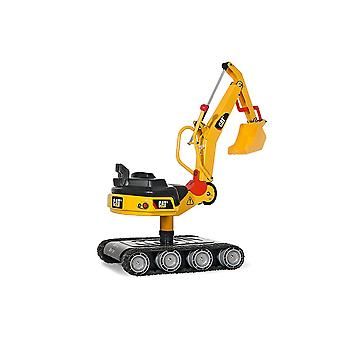 Rolly toys caterpillar metal excavator with tank tracks for 3-8 year old-yellow