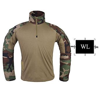 Multicam Combat Shirt Hunting Clothes,  Army Military Wargame Multicam Black