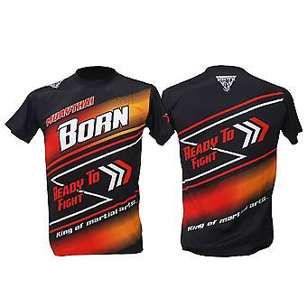 T-shirt Muay Thai Top Thai Boxning MMA Sport Wear Unisex - (Svart)