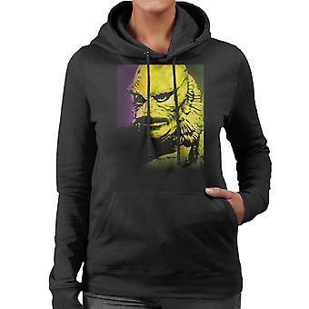The Creature From The Black Lagoon Head Women's Hooded Sweatshirt