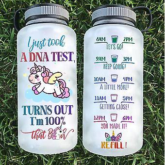 Unicorn Print Tritan Water Bottle