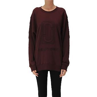 Marc Jacobs Ezgl033025 Women's Burgundy Cotton Sweatshirt