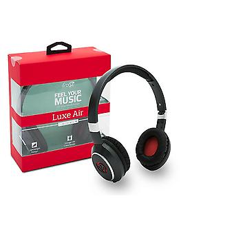 iFrogz Luxe Air Headphones with Mic & Padded Ear Cups - Red
