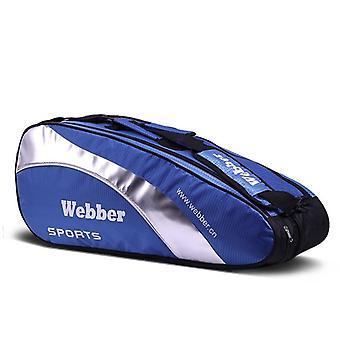 Tennis sulkapallomaila laukku, suuren kapasiteetin ammatillinen harjoittelu varastointi