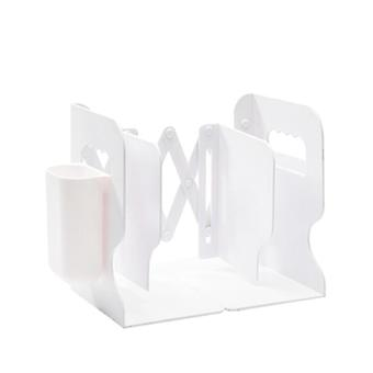 Retractable Bookends For Shelves Book Stand, Bookshelf With Pen Holder,