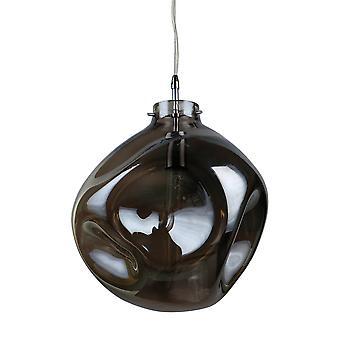 Italux Aldeia - Moderno pendente appeso Chrome 1 Luce con tonalità fumosa, E27