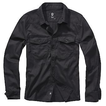 Brandit Men's Long Sleeve Shirt Flannel Shirt