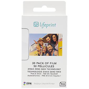 Lifeprint papier photo 30 - photo paper, photo printing paper 7.6 x 5 cm, innovative ecological zink