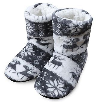 Zimowe ciepłe kapcie, pluszowe klapki bawełniane buty wewnętrzne
