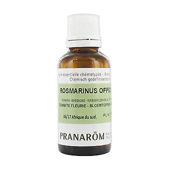 Rosemary chemotyped essential oil with verbenone - organic flowering top 30 ml of essential oil