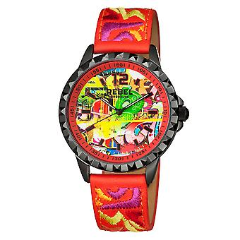 Rebel Women's Dumbo Red  Dial Leather Watch