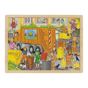 Goki fönster pussel Garbage Collection 40x30x1cm 48-bit