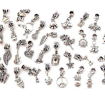 20 stk sølv forgyldt tibetansk perle armbånd Charms