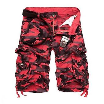 Camouflage Loose Cargo Shorts, Men Cool Summer Military Camo Pants
