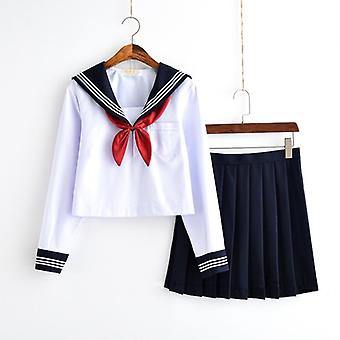 Japanese Class Navy Sailor Uniforms Students Clothes, Sailor Suits