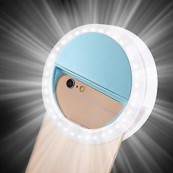 Söpö selfie linssi valokuvaus pistorasia led rengas valo kannettava mobiili selfie-lamppu