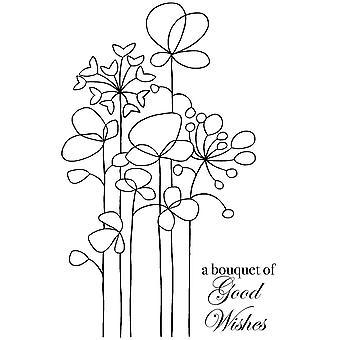 Woodware Clear Singles Pitkät korkeat kukat 4 x 6 leimana