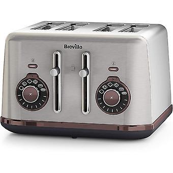 Breville Bread Select 4-Slice Toaster | Silver/Grey, [VTT953]