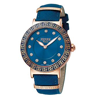 Ferre Milano  Women's Light Blue Dial Calfskin Leather Watch