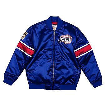 M&N Heavyweight Satin Jacket - Los Angeles Clippers