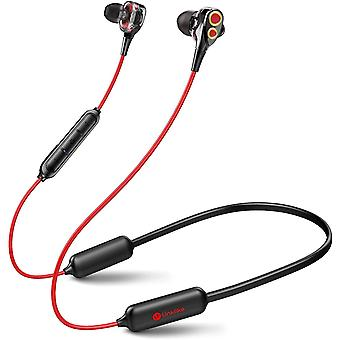 Linklike Upgraded Quad Drivers 16H Playtime Bluetooth 5.0 Earphones with Microphone, IPX7 Waterproof