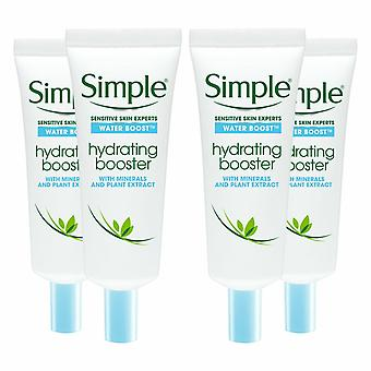 4 x 25ml Simple Water Boost Hydrating Booster