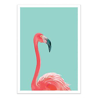 Art-Poster - Flamingo in the sky - Seven trees