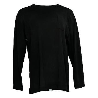 Isaac Mizrahi Live! Women's Top Long Sleeve W/ Pocket Black A389173