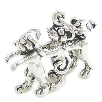 Three Blind Mice Sterling Silver Charm .925 X 1 Nursery Rhyme Charms - 1415