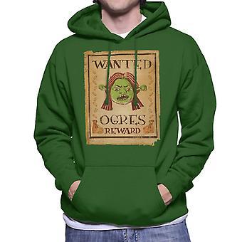 Shrek Prinsesse Fiona Wanted Ogres Reward Mænd's Hooded Sweatshirt