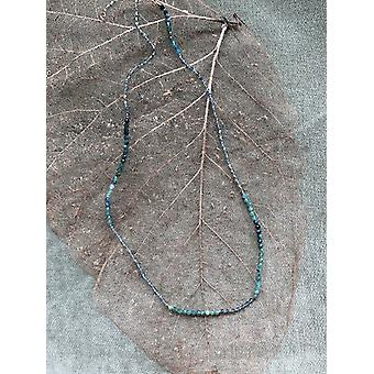 Blue/green Tourmaline Necklace 18-20""