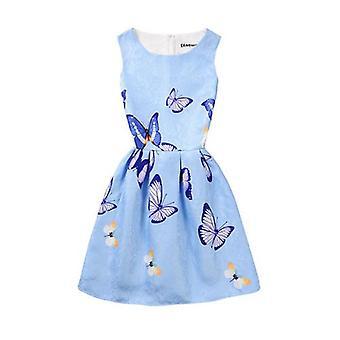 ילדה קיץ ללא שרוולים שמלה אוזני ארנב-עיצוב 2