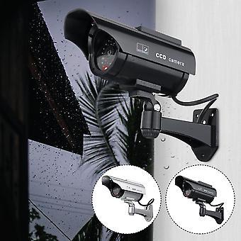 Caméra solaire CCTV Réaliste Dummy Security Cam Clignotant en plein air