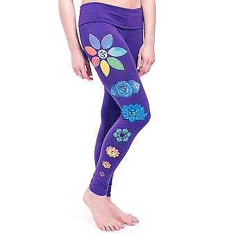 Chakra Leggings för kvinnor & apos; s , Handmålade