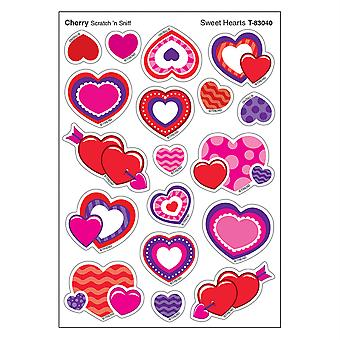Sweet Hearts/Cherry Mixed Shapes Stinky Stickers, 72 Count
