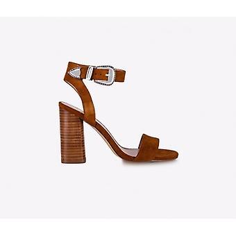 Shoes Woman Sandalo Liu-jo Mod. Zoe Tc 95 Suede Color Tan Ds19lj22