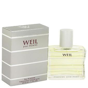 Weil Pour Homme Eau De Toilette Spray By Weil 1.7 oz Eau De Toilette Spray