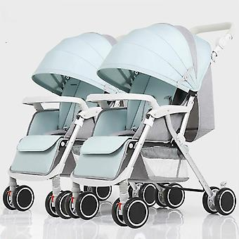 Twins Baby Stroller, Detachable Pram, High-landscape Carriage