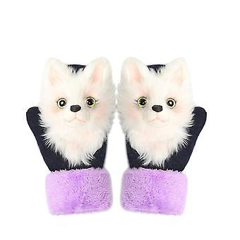 Schattige winter aanbevolen dieren kat hond panda ontwerp handschoenen
