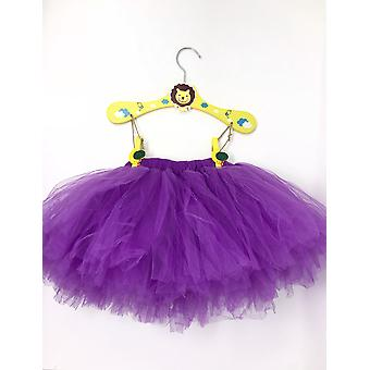 Fluffy Purple Tutu With Headband For Baby | 6-12m | 2pcs Set