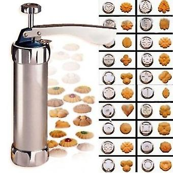 Cool Cook Cookie Press Machine Stainless Steel Biscuit Extruder Press Cookie Gun Kit Set