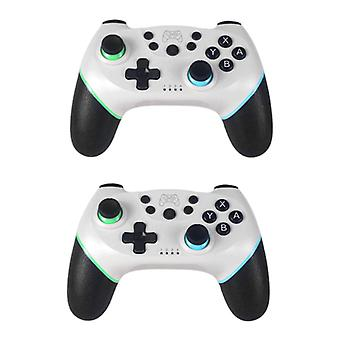 Stuff Certified® 2-Pack Gaming Controller for Nintendo Switch - NS Bluetooth Gamepad with Vibration White