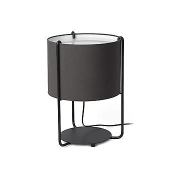 Faro DRUM - Tafellampen Cilindrische Tafellamp Grijs, E27